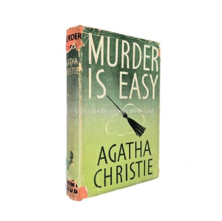 Murder is Easy by Agatha Christie Fourth Impression The Crime Club by Collins 1949
